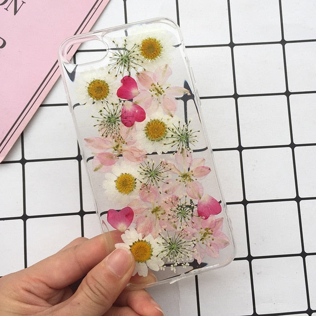 Real Pressed Dried Flowers Phone Case - Expressdeal.net