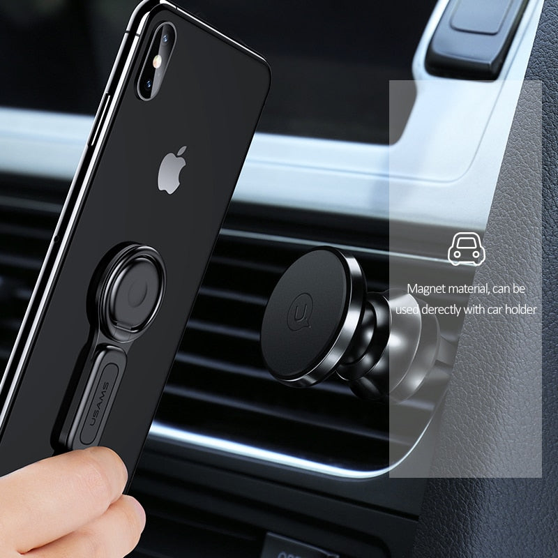 for Lighting Dual Adapter & Ring Holder USAMS 3.5mm Audio&charger Adjust Phone Holder fast charging for iPhone iOS Adapter OTG - Expressdeal.net