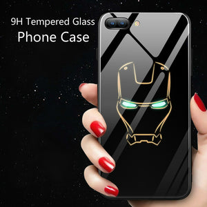 Luminous Glass Case For iphone 7 8 6 6s Plus X Xs Max Xr - Expressdeal.net