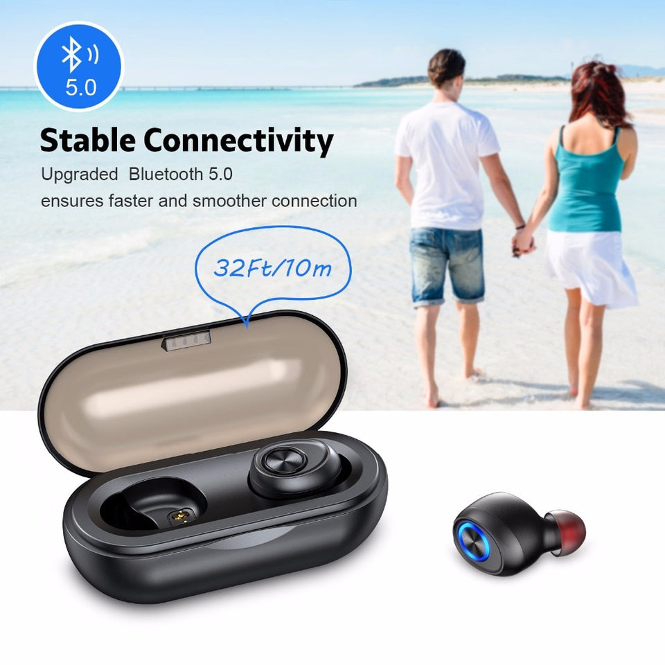 Anomoibuds Capsule TWS Wireless Earbuds V5.0 Bluetooth Earphone - Expressdeal.net
