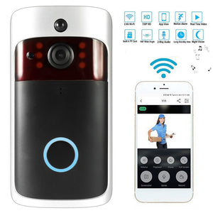 Smart Wireless WiFi Security DoorBell Visual Recording Consumption Remote Home Monitoring Night Vision Smart Video Door Phone - Expressdeal.net