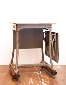 Vintage INDUSTRIAL Stenographers Table, Awesome Patina & Character