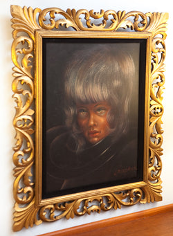 Rare Original Portrait by PBS Artist Bill Alexander