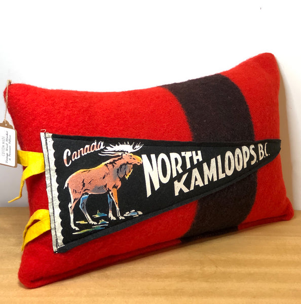 Vintage Blanket & Pennant Pillow - North Kamloops