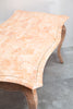 Vintage 1980s Peachy-Pink Marble Desk w/ Matching Chair, Stunning!