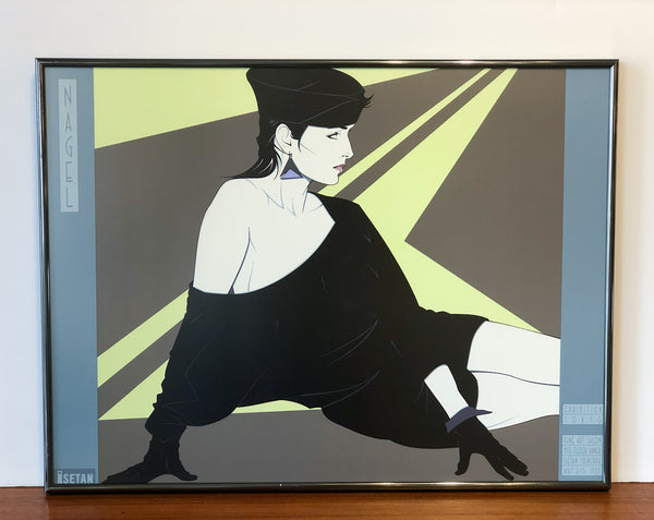 Amazing Patrick Nagel Lithograph for Tokyo Show, 1989