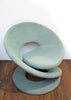 Fab 1980s Biomorphic Chair in Sea Glass Blue, Made by Jaymar