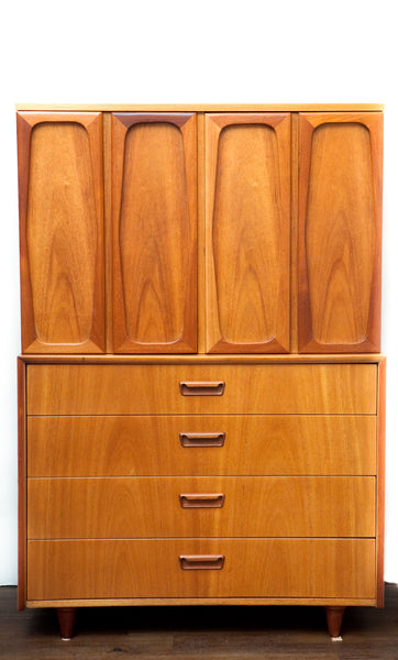 SALE! Mid Century Quality Built Tall Dresser, Functional & Refinished