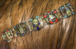 Exceptional & Rare 1920s Egyptian Revival Bracelet by the Neiger Brothers