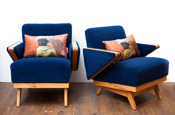 Exceptional Pair of Restored Art Deco Lounge Chairs w/ New Mohair