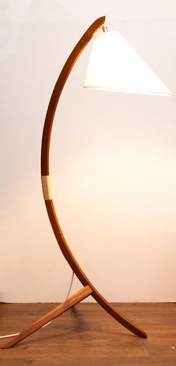 Fabulous Danish Classic Teak Arc Lamp w/ New Shade