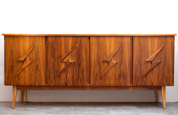 Fab Atomic Style Mid Century Credenza, Completely Refinished