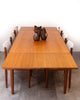 Beautiful Mid Century Teak Dining Table w/ Unique Joinery Detail