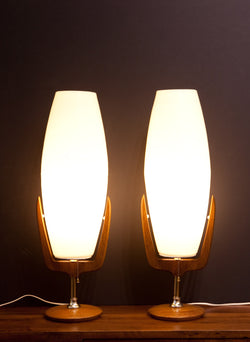 Ultra Rare PAIR of Rotaflex Table Lamps