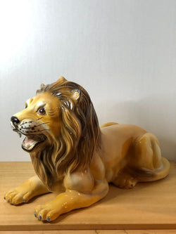 Large 1970s Porcelain Lion Made in Italy