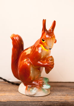 Adorable Vintage Porcelain Squirrel Perfume Lamp