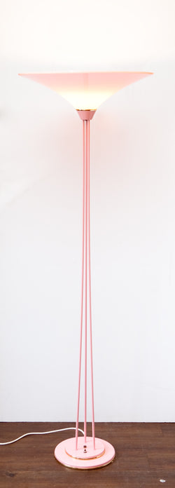 Absolutely Gorgeous 1980s All-Pink Floor Lamp