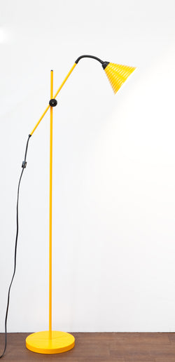 Funky 1980s Post Modern Yellow Floor Lamp, Cantilever Design