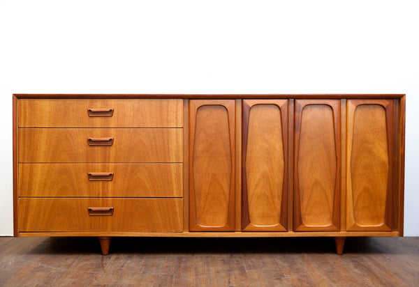 Gorgeous 1950s Sideboard, Completely Refinished, Exceptional Quality