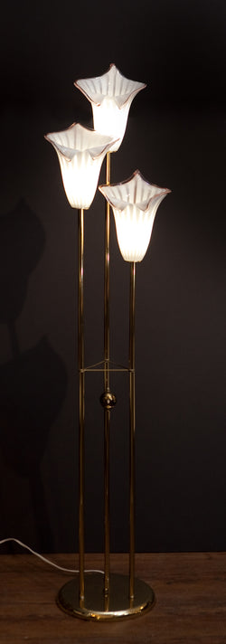 Spectacular Murano Glass Calla Lily Floor Lamp