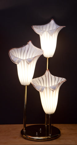 Gorgeous Murano Glass Calla Lily Table Lamp