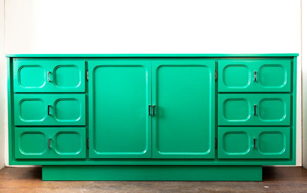 WOW! Amazing Vintage Lacquered Sideboard, Groovy & Fresh