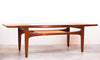 Gorgeous Mid Century Teak Coffee Table w/ Clever Glass Insert