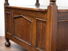 Charming Antique Oak Monks Bench, Converts to a Table!