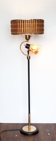 Fantastic 1950s Floor Lamp, with Unique Shades & Reading Light