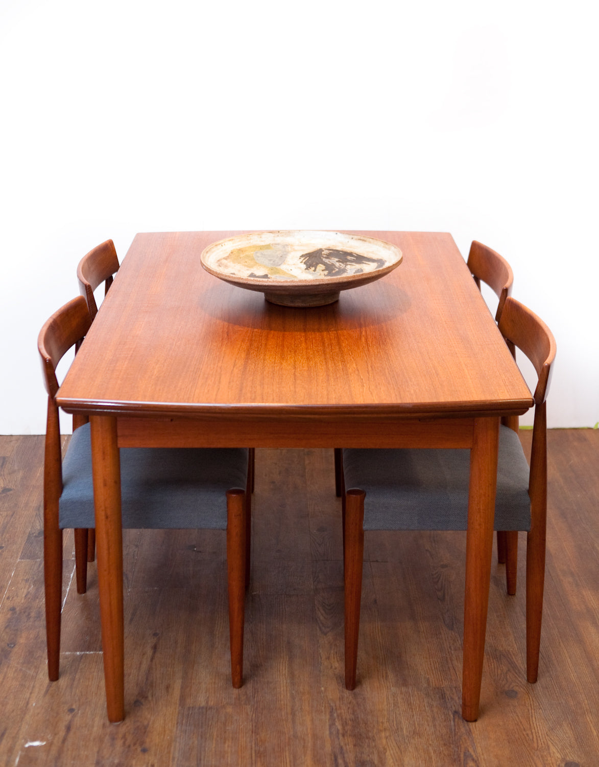 Compact Refinished Mcm Teak Dining Table W Leaves Quality Built The Fab Pad
