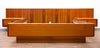 Gorgeous Mid Century Teak Platform Bed, Nightstands, & Dresser