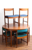 Amazing Mid Century Teak Dining Set, Chairs *Fit In* To Table, Refinished