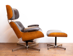 Fabulous Vintage Eames-Style Chair & Ottoman by Plycraft 1960s