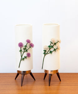 NEW ARRIVAL - Funky Fab Pair of 1960s Flower Power Lamps
