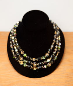 Spectacular Crystal & Glass Necklace by Vendome of France, Circa 1950s