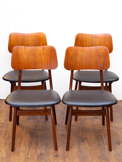 Fabulous Rare Set of Teak Dining Chairs by Arne Hovmand Olsen