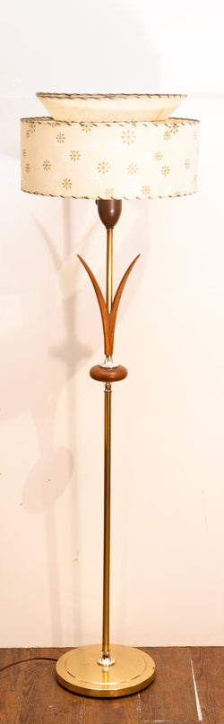 Amazing 1950s Atomic Style Floor Lamp w/ Beautiful Details
