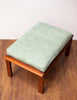 Pretty Mid Century Teak Ottoman w/ Original Cushion