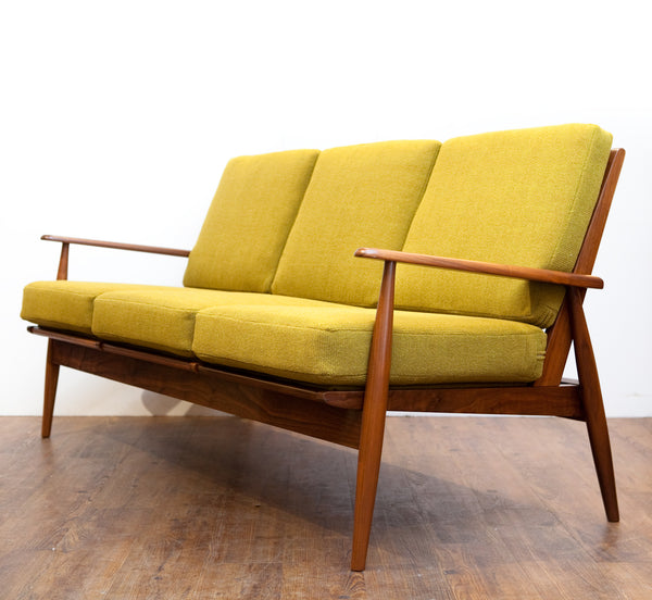 Beautiful Vintage Mid Century Sofa, Refinished & Reupholstered