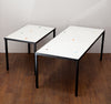 Fab 1950s Matching Set of Tile & Iron Coffee/Side Tables