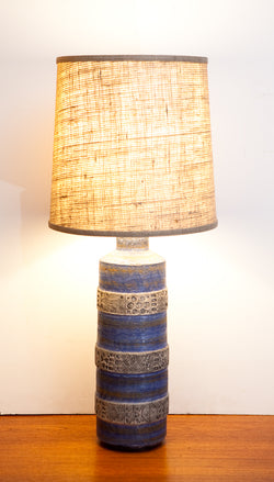Incredible Large Bitossi Italy Ceramic Lamp w/ New Shade