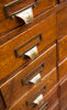Phenomenal Antique Oak File Drawer Unit w/ Original Hardware