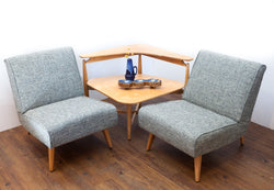 Rare, Compact, & Restored Canadian Mid Century Seating/Table Set