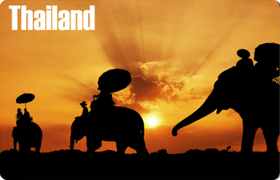 Thailand: Elephant Sunset, 8854093005013