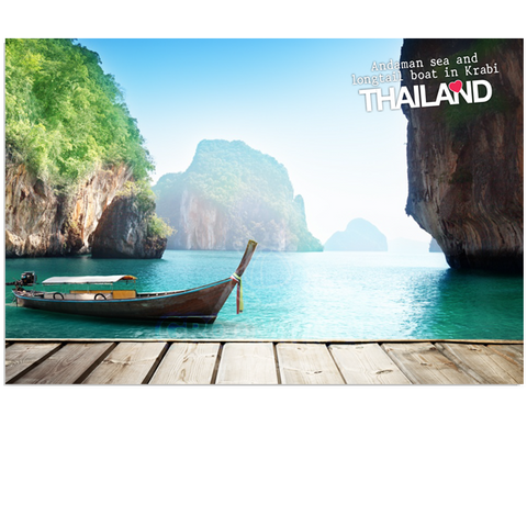 Thailand - Boat and Cliff (PC), 8859194801441