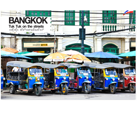 Bangkok: Tuk Tuk on Street (PC), 8859194801571