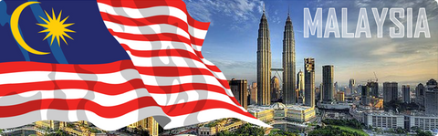 Malaysia: Flags and Petronas Towers KL, 8859194802370