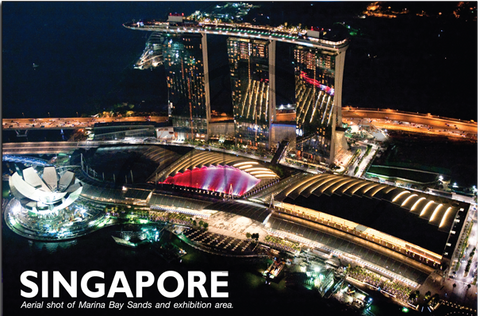 Singapore: PC Aerial shot of Marina Bay 8859194803896