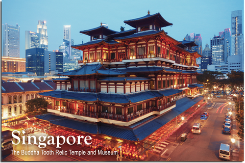Singapore: PC Tooth Relic Buddha Temple 8859194803988