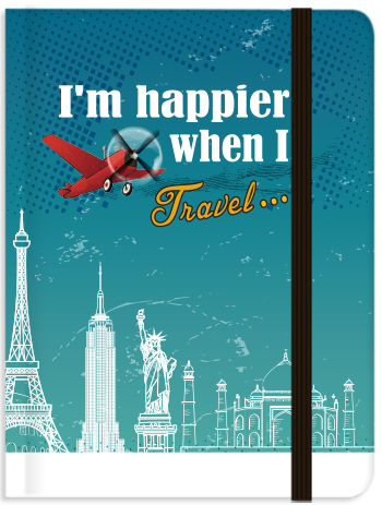 Lifestyle: I'm Happier When I Travel (Blank), 8859194804107